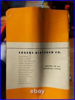 Nos Vintage Dietzgen Trig Type Slide Rule No. N1732l With All Extras Nice Find