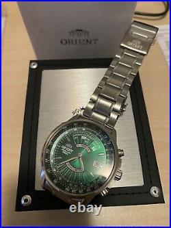 Orient Multi Calendar Verde Nuovo Regolo Calcolatore Slide Rule FEU0700FX