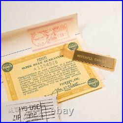 Pickett N-500-ES All Metal Slide Rule, Leather Case, Box, Paperwork 1962 NOS
