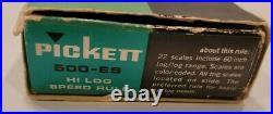 Pickett N-500-ES HI Log Speed Rule All Metal Slide Rule New RARE MINT