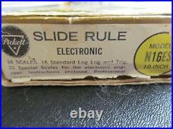 Pickett Slide Rule N16-ES ELECTROLOG slide rule withoriginal box New Perfect Cond