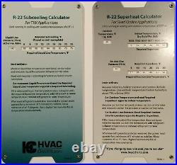 R22 Superheat Subcooling Slide Rule Calculator
