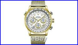 Rotary Men's Stainless Steel Gold Plated Bracelet Watch A Detailed Slide Rule UK