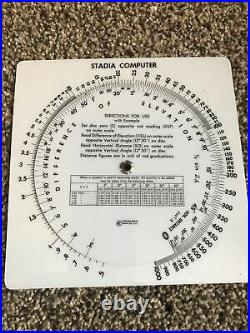 Ruler circular slide rule Stadia calculator Computer Difference Of Elevation
