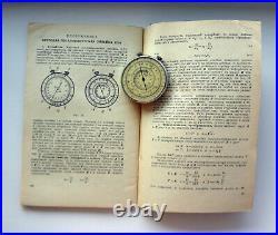 Russian CIRCULAR SLIDE RULE CALCULATOR KL-1 USSR NEW! + Book Sliding Rule 1967