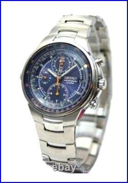 SEIKO Criteria Chronograph Men Pilot Aviation Sliderule Watch SND489 SND489P1