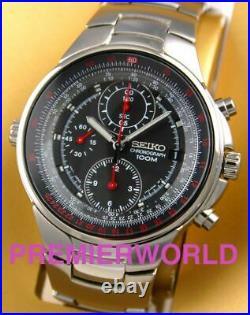 SEIKO Criteria Chronograph Men Pilot Aviation Sliderule Watch SND491 SND491P1