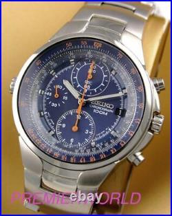 SEIKO Criteria Chronograph SND489 SND489P1 Men Pilot Aviation Sliderule Watch
