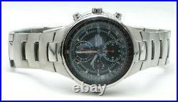 SEIKO Criteria Chronograph SND491 SND491P1 Men Pilot Aviation Sliderule Watch