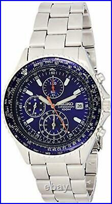 SEIKO Watch SND255P1 Flightmaster Pilot Slide Rule Chronograph Men's F/S wTrack#