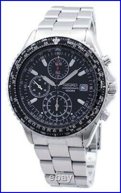 Seiko Flightmaster Pilot Slide Rule Chronograph SND253P1 SND253P Men's Watch