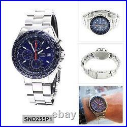 Seiko Flightmaster Pilot Slide Rule Chronograph SND255P1 Men's Watch DE2