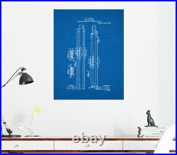 Slide-rule Runner Patent Print Blueprint