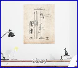 Slide-rule Runner Patent Print Old Look