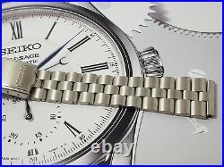 Solid SS Bracelet Seiko 6138-0011 6138-0010 6138-7000 6138-0012 UFO Slide rule