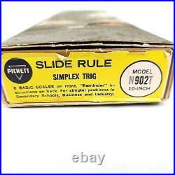Vintage 1960s Pickett Slide Rule Simplex Trig Model N902T 10 Inch with Manual