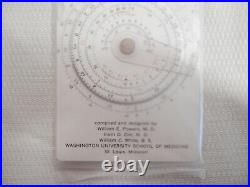 Vintage 1966 Sama & Etani Concise Radiological Tables & Circular Slide Rule EUC