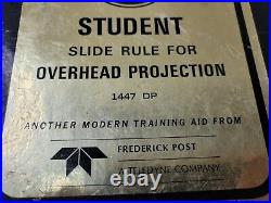 Vintage 1969 Post Student Slide Rule for Overhead Projector