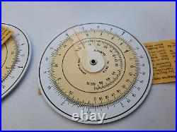 Vintage Aristo Nr. 0602 Circular Slide Rule with Case Germany New! Very Rare