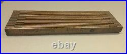 Vintage Interlox Master Slide Wooden Ruler Master Rule Mfg. New York No. 106