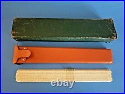Vintage Keuffel & Esser K&E Slide Rule 4053 Co New York-Pat Leather Case & BOX