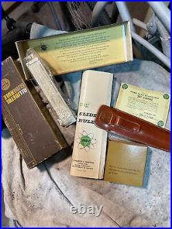 Vintage NEW Pickett N200T 6 Slide Rule withPapers&case JOSLYN ELECTRONIC N200 T