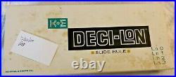 Vintage NIB 1962 K+E Slide Rule DECI-LoN 68-1100 COMPLETE Keuffel & Esser