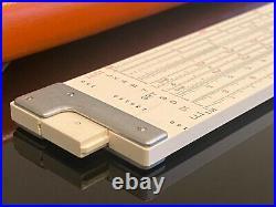 Vintage NOS K&E Keuffel & Esser Jet Log Slide Rule 68-1251 Leather Case & Box