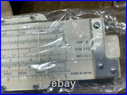 Vintage NOS Sans & Streiffe Slide Rule with Orig l Leather Case NEW IN BOX w acces