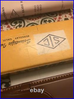 Vintage Scientific Instruments Co. Slide Rule (No. 1520) In Box With Leather Case