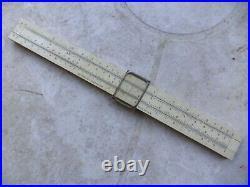 Vtg 1950's PICKETT CO. METRIC/STD ARCHITECT/DRAFTING SLIDE RULE withcase